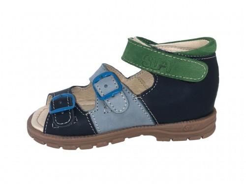 Supykids SOMA dětské sandály na suchý zip kiwi tmavěmodré barvy