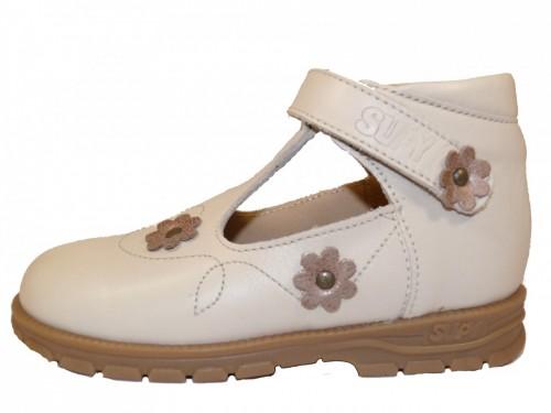Supykids BAMBI detské sandále vpredu uzavreté béžové 19-30