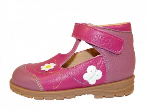 Supykids BAMBI detské sandále vpredu uzavreté ružové mix 19-30