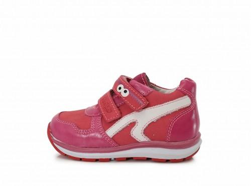 PONTE detské dievčenské supinované ružové topánky so suchým zipsom 22-27