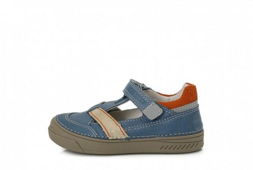 D.D. STEP dětské chlapecké modré boty se suchým zipem 25-30
