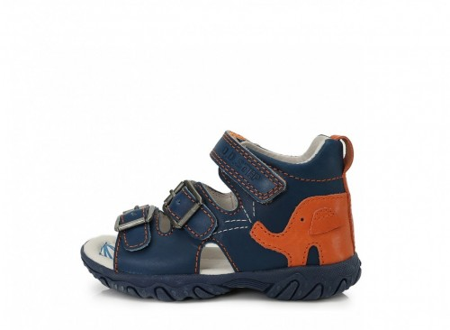 D.D. STEP detské chlapčenské sandále modro-oranžové 19-24