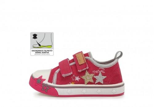 D.D. STEP růžové dívčí plátěné boty 20-25