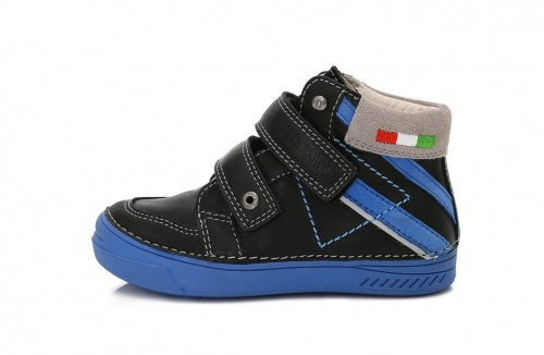 D.D.step chlapecké černé kotníkové dětské boty 31-36