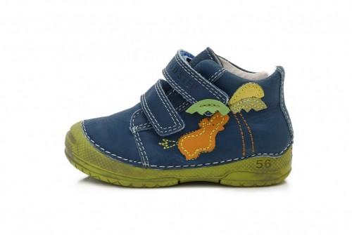 D.D. STEP detské chlapčenské modro zelené topánky so suchým zipsom 19-24