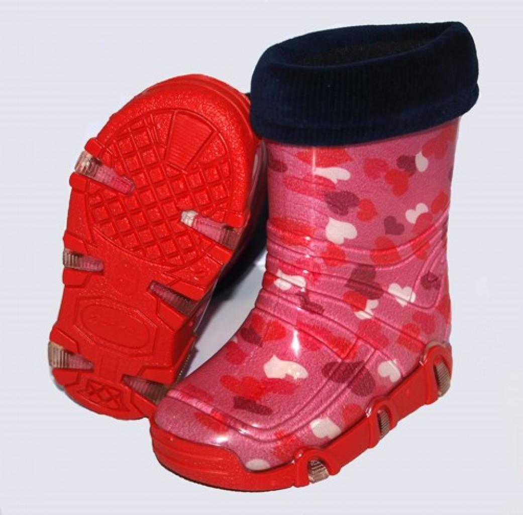Szuwarek srdiečkové dievčenské gumové čižmy s vyberatelnou vložkou