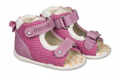 MEMO MINI ružové detské sandále pre dievčatká 18-21