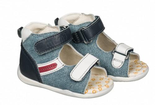 MEMO MIKI modré detské sandále pre chlapcov 18-21