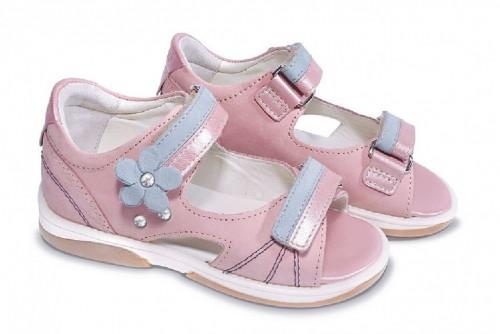 MEMO JASPIS rózsaszín lány supinált gyerekszandál 22-31