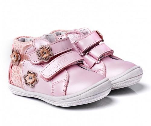 MEMO BELLA ružové dievčenské supinované topánky na suchý zips 19-21