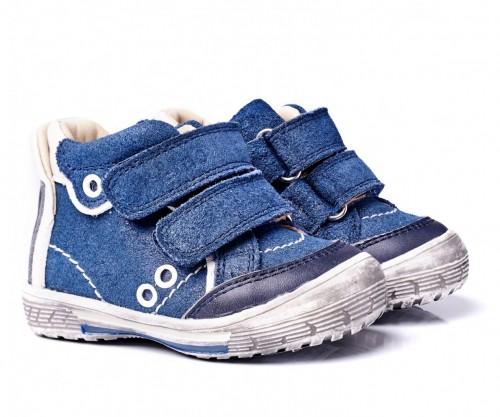 MEMO NODI modré chlapčenské topánky na suchý zips 19-21