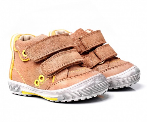 MEMO NODI hnedé chlapčenské supinované topánky na suchý zips 19-21