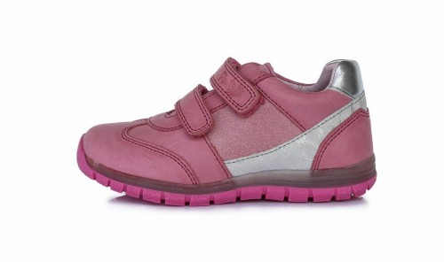 PONTE ružové dievčenské supinované detské topánky na suchý zips 28-33