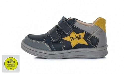 PONTE modré chlapčenské supinované detské topánky na suchý zips 22-27
