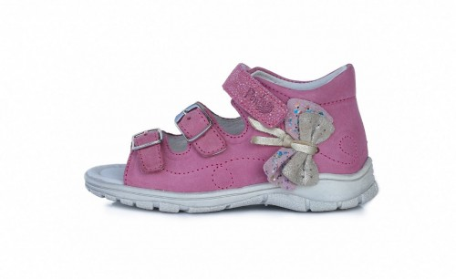 PONTE ružové supinované detské dievčenské sandále so suchým zipsom 22-27