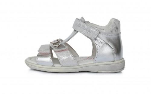 D.D.Step dievčenské strieborné detské sandále 25-30