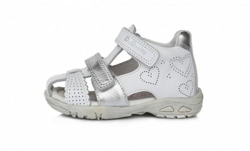 D.D.Step detské dievčenské biele sandále 25-30
