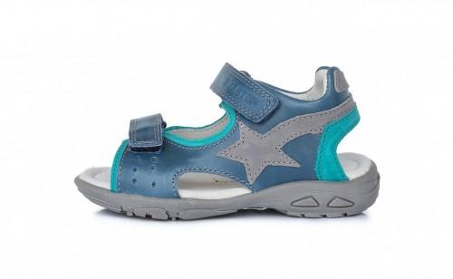 D.D.Step detské sivo-zelené chlapčenské sandále 31-36