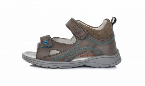 PONTE šedé supinované dětské chlapecké sandály se suchým zipem 28-33