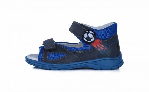 PONTE modré supinované detské chlapčenské sandále so suchým zipsom 28-33