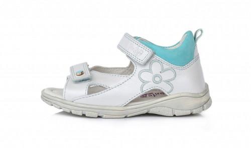PONTE biele supinované detské dievčenské sandále so suchým zipsom 22-27
