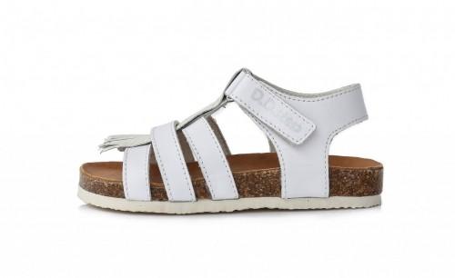 D.D.Step dětské dívčí bílé sandály 31-36