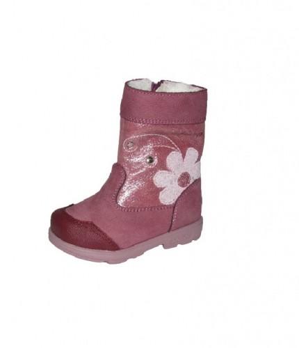 Szamos rózsaszín vízálló bélelt oldalt cipzáras lány supinált csizma 20-24