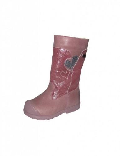 Szamos rózsaszín vízálló bélelt oldalt cipzáras lány supinált csizma 25-30