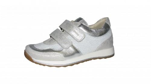 Szamos stříbrné dívčí dětské boty na suchý zip 36-40