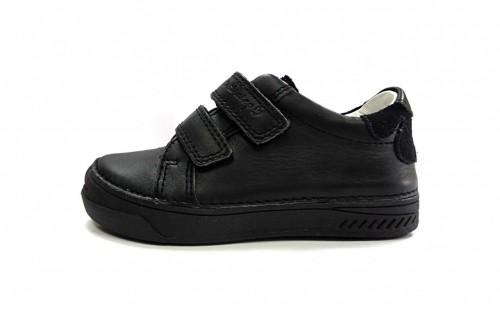 D.D.step čierne dievčenské detské topánky na suchý zips 25-30