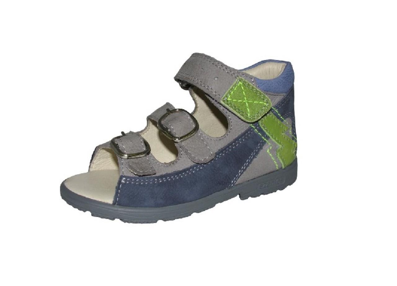 Szamos modré chlapecké supinované dětské sandály na suchý zip 18-24