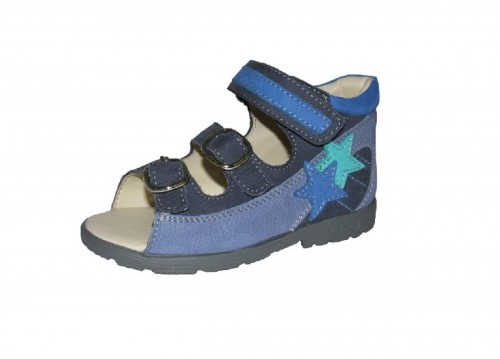 Szamos modré chlapčenské supinované detské sandále na suchý zips 25-30