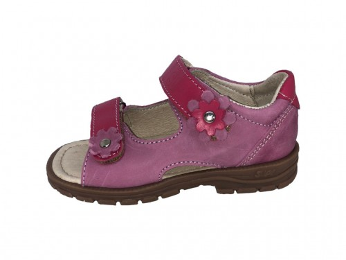 Supykids MIMI detské supinované dievčenské sandále na suchý zips ružové 24-32