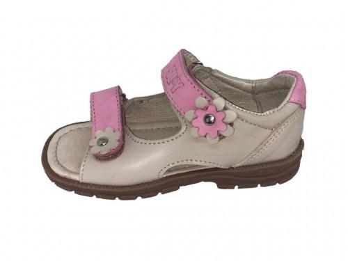 Supykids MIMI detské supinované dievčenské sandále na suchý zips béžové 24-32