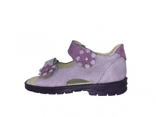 Supykids MIMI dětské supinované dívčí sandály na suchý zip fialové 24-32