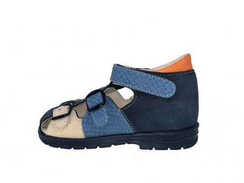 Supykids KORI detské supinované sandále na suchý zips modré 18-32
