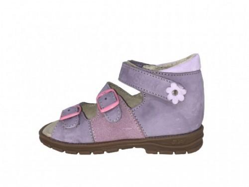 Supykids SOMA detské supinované dievčenské sandále na suchý zips fialové 18-32