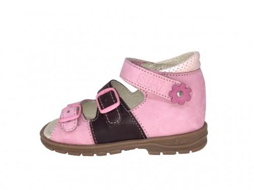 Supykids SOMA rózsaszín lány tépőzáras supinált gyerekszandál 18-32
