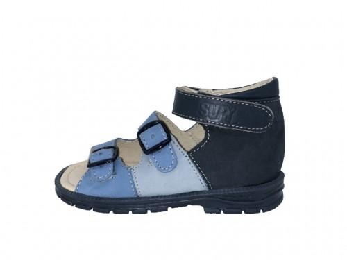 Supykids SOMA detské supinované sandále na suchý zips modré 18-32