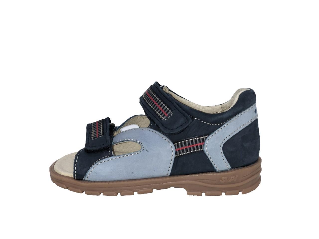 Supykids ROMI detské supinované sandále na suchý zips modré 23-32