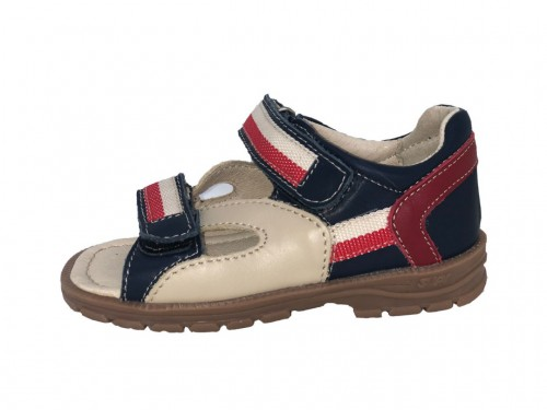 Supykids ROMI detské supinované sandále na suchý zips modro-červené 23-32