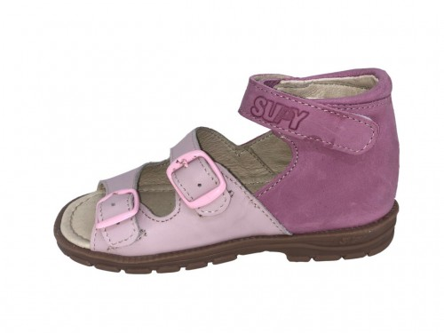 Supykids SASA dievčenské supinované detské sandále ružové 18-32
