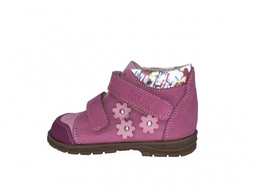 Supykids GABO dětská dívčí supinovaná obuv na suchý zip růžová 19-30