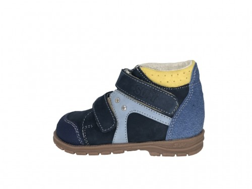 Supykids GABO detská chlapčenská supinovaná obuv na suchý zips modro-sivá 19-30