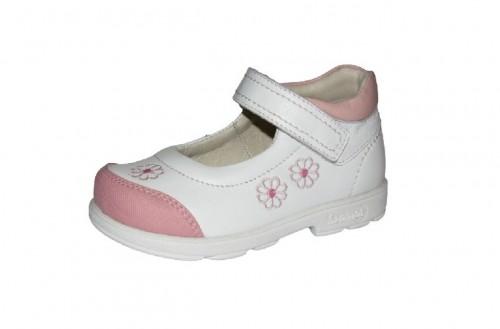 Szamos fehér lány supinált balerina gyerekcipő 25-30