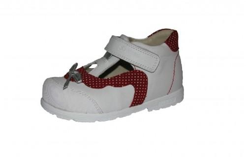 Szamos piros fehér lány supinált balerina gyerekcipő 25-30