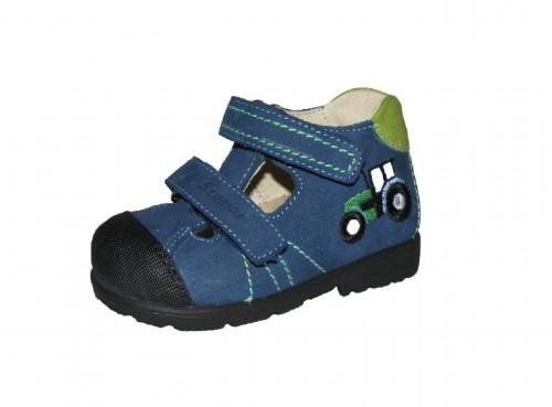 Szamos modro-zelené chlapčenské supinované detské sandále na suchý zips 25-30
