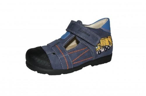 Szamos modré chlapčenské supinované detské sandále na suchý zips 31-35