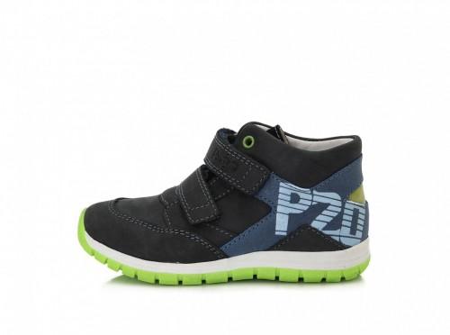 PONTE detské modro-čierne supinované chlapčenské topánky na suchý zips 28-33