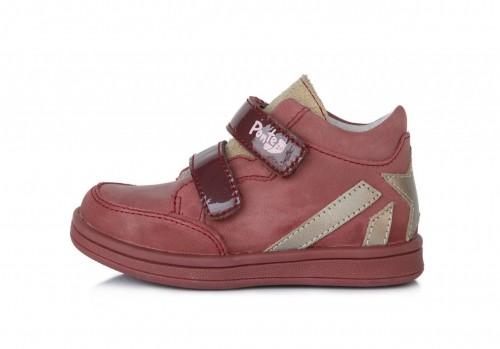 PONTE dětské růžové supinované dívčí kotníkové boty na suchý zip 22-27